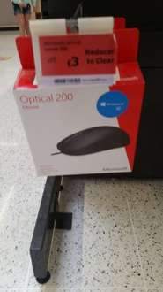 Microsoft Optical 200 Mouse - Reduced to clear £3 Sainsburys