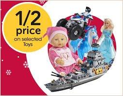 Half price toys at Wilko.