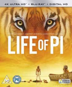 Amazon 4K Ultra HD Blu-Ray Reductions - Life of Pi, Maze Runner, X-Men (Xbox One S Owners) from £16.72