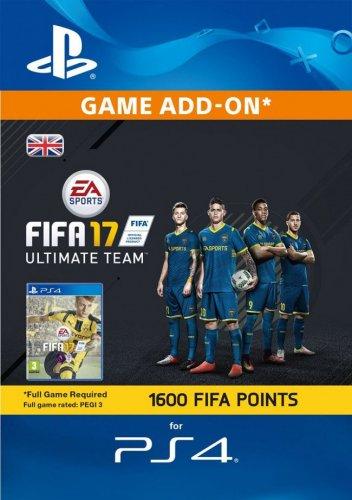 1600 FIFA 17 Points PS4 PSN Code - UK account £9.96 @ CDKeys.com