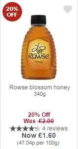 Rowse blossom honey 340g £1.60 with myPicks at Waitrose