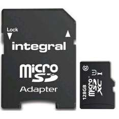 (mymemory.co.uk) MicroSD INTEGRAL 128GB MICRO SDXC CARD FOR SMARTPHONE AND TABLET UHS-I U1 - 80MB/S [£18.99 with VUB5 code] FREE delivery