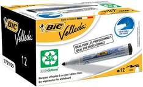 BiC VELLEDA WhiteBoard 1701 Bullet Marker 1.5mm Box of 12 - Black £1.19 (Prime) £5.18 (Non Prime inc shipping) @ Amazon