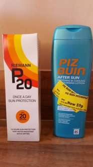 Sun cream clearance at 59p Morrisons