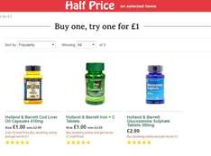 Holland & Barrett - Buy one, try one for £1, Half Price Sale and 2 for £10 including one where you save £23.98