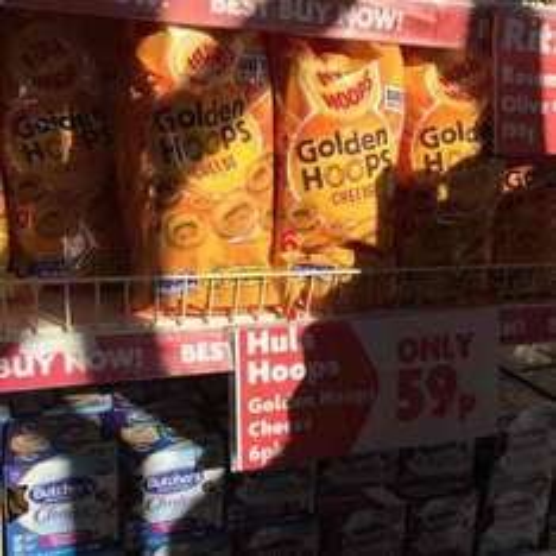 6 pack of Cheese Hula Hoops 59p at Heron Foods
