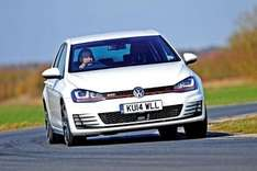 """VW Golf GTI - 5dr DSG - 220bhp, keyless entry, 18"""" alloys, sat nav, heated front seats, front/rear parking sensors etc. - £2400 deposit & £108/month - 2 year personal lease - £5145.38 - National vehicle solutions"""