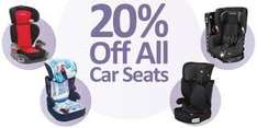 20% off car seats at smyths toys on tuesday 4/10/16