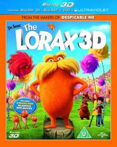 The Lorax 3D Blu Ray (inc. 2D, DVD & UV), £4.02 delivered from The Trade Inn @ Amazon
