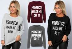 Prosecco Made Me Do It Sweatshirt £6.98 delivered at eBay / Glamarous Apparel