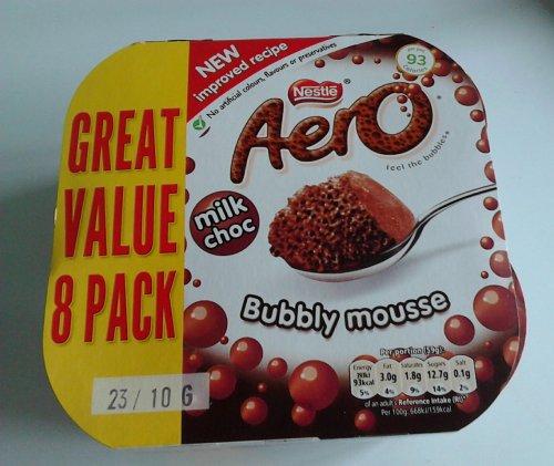 8 Pack Aero Milk Choc Bubbly Mousse (2 x 236g) £1 Instore Asda