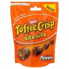 TOFFEE CRISP BITESIZE 120g 50p at Poundstretcher