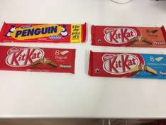 BUY ONE GET ONE FREE Penquin, kitkat orange, original, cookies & cream any 2 packs for £1 instore from tomorrow  (5/10/16) at poundland