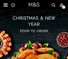 Marks and Spencer Christmas food to order. Free wine on orders £80+