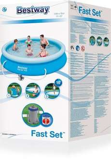 Bestway 12ft Fast Set Pool with pump £32.35 delivered AMAZON down from £59.99