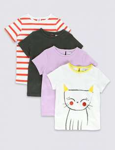 4 Pack Pure Cotton Assorted T-Shirts (1-6 Years) £6 @ m&s - Free c&c