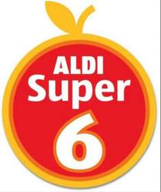 Aldi - Super 6 Fruit & Vegetables - 45p from 6th October - 19th October 2016: Leeks (500g); Baking Potatoes (4)/Beetroot (500g); Swede; Onions (1Kg); Brussels Sprouts (500g); Parsnips (600g)...