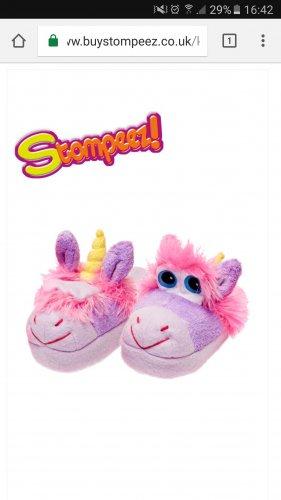 Unicorn Stompeez Kids Slippers £5.99 @ Stompeez