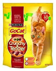 Go-Cat Dry Cat Food Crunchy Tender Beef, Chicken and Vegetable, 800 g - Pack of 4 Amazon £6.37 through subscribe and save with 20% voucher