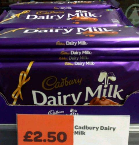 *In store* Cadbury Dairy Milk 360g! £2.50 @ spar