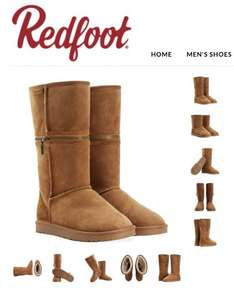 Redfoot - Australian sheepskin boots were £150 now £14.99 black or chestnut + £3.50 delivery