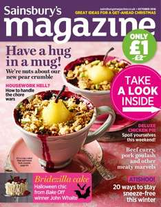 Sainsbury's October Magazine (Instore) £1 with free Ricola sweets
