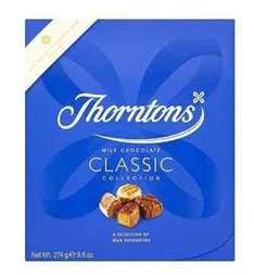 Thorntons Classic Milk Box 274 g (Pack of 5 Boxes) RRP £30 now £15.18 (Prime) / £19.93 (non Prime)  half price on Amazon
