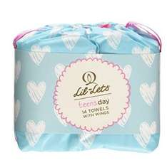 Lil-Lets Teens Day Towels with Wings, 14 Towels 0.30p RRP £1.50 Amazon Pantry
