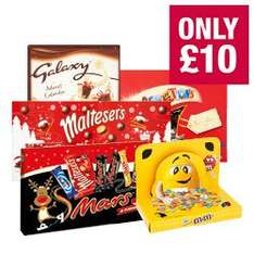 Choccy deal £10(£9 NUS) @ the co-op! Galaxy advent calendar, M&M'S peanut gift box, Maltesers & friends box,  Mars & friends selection box and celebrations box!