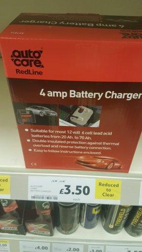 4amp battery charger £3.50 tesco Stalybridge