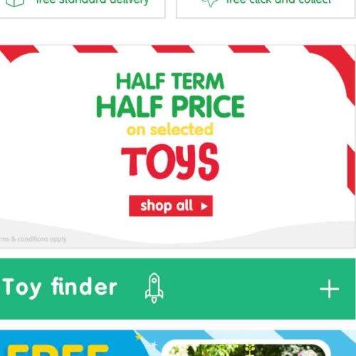 Selected Toys HALF PRICE  at ELC