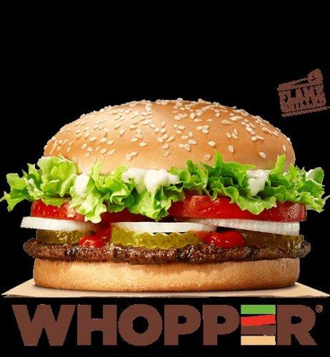 Burger King Whopper BOGOF £3.89 using BK App