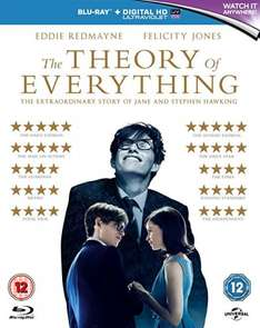 The Theory Of Everything [Blu-ray] £4.99 (Prime or order over £20) / £6.98 (non Prime) @ Amazon