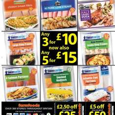 Farmfoods 3 for £10 items are now also 5 for £15
