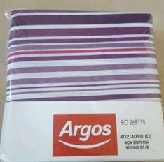 Twin pack king size bedding @ Argos...duvet cover and pillowcases - £12.99