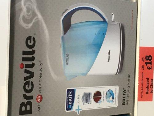 Breville Britta kettle £18 @ Sainsbury's - Pontypridd