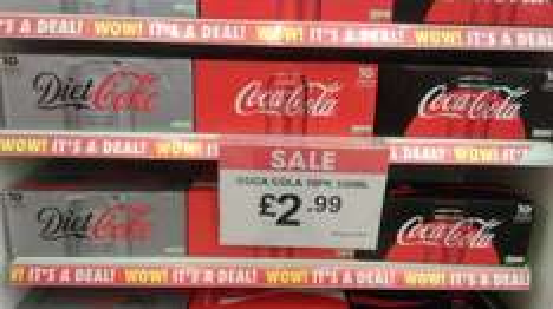 Coca Cola 10 cans £2.99 at Poundstretcher