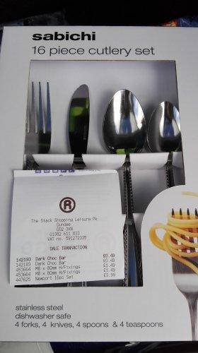 Sabichi Newton 16pc cutlery set - £3.99 @ The Range (Instore)