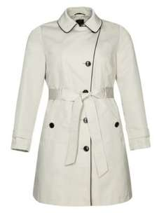 PLUS Notch Lapel Tipped Belted Mac. Sizes 24-28 Less than Half Price £21 @M&S Free C&C