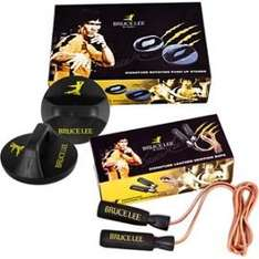 Bruce Lee Signature Push Up Stands & Leather Skipping Rope Set £14.99 @ Tesco - Free delivery