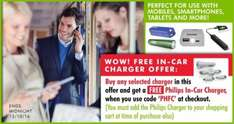 Buy a portable charger (£8.99) and get a FREE Philips In-Car Charger (worth £5.81). Free delivery. @ Memorybits