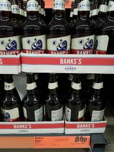 banks bitter 500ml bottles only 89p at lidl rochdale