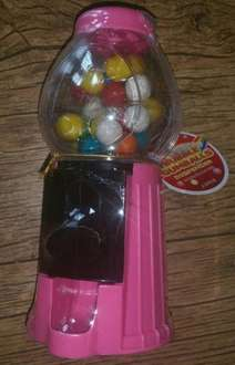 Fruit Flavoured Bubble Gumballs Dispenser (60g Gum Balls), Various Colours, £1 @ Poundworld In Store