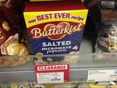 butterkist salted microwaveable popcorn 1p in coop wadebridge