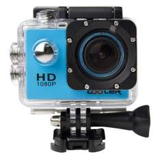 KIPTOP 12MP HD 1080P Wide-Angle Lens Blue Underwater Waterproof Camera, Sports Action Bicycle Helmet Recorder + Free Stands/Mounts/Casing. Sold by COOLER and Fulfilled by Amazon for £33.99