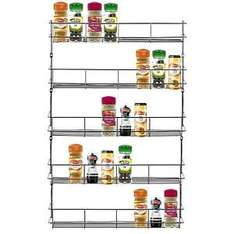 Mouse over image to zoom Have one to sell? Sell it yourself Details about  5 TIER CHROME SPICE HERB JAR RACK HOLDER FOR KITCHEN DOOR CUPBOARD STORAGE WALL £7.99 delivered @  elex ltd / Ebay
