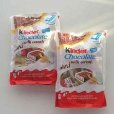£1 for 2 packets !!!!!!! Kinders chocolate mini with cereal individually wrapped @ HeronFoods