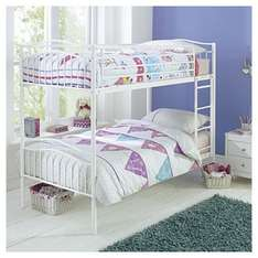 Paige Metal Bunk Bed, White - Tesco Direct