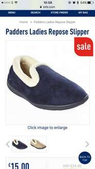 Padders repose slippers £15.00 (£17.99 delivered) @ The original factory shop