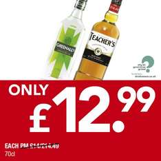 Teacher's Whisky 70 cl £12.99 @ Premier Stores